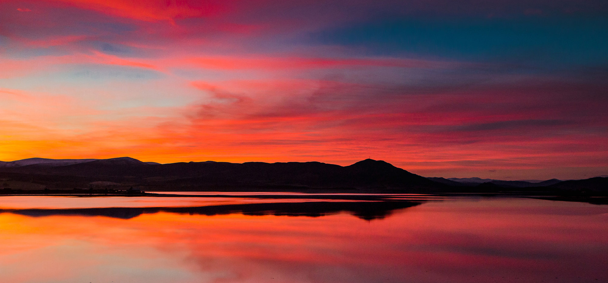 sunset, low light, Dornoch Firth