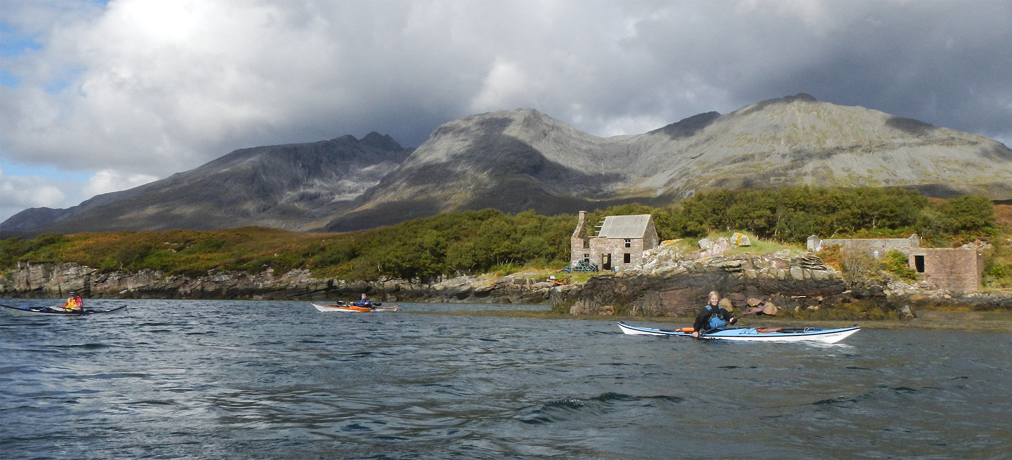 Sea kayaking off the Isle of Soay