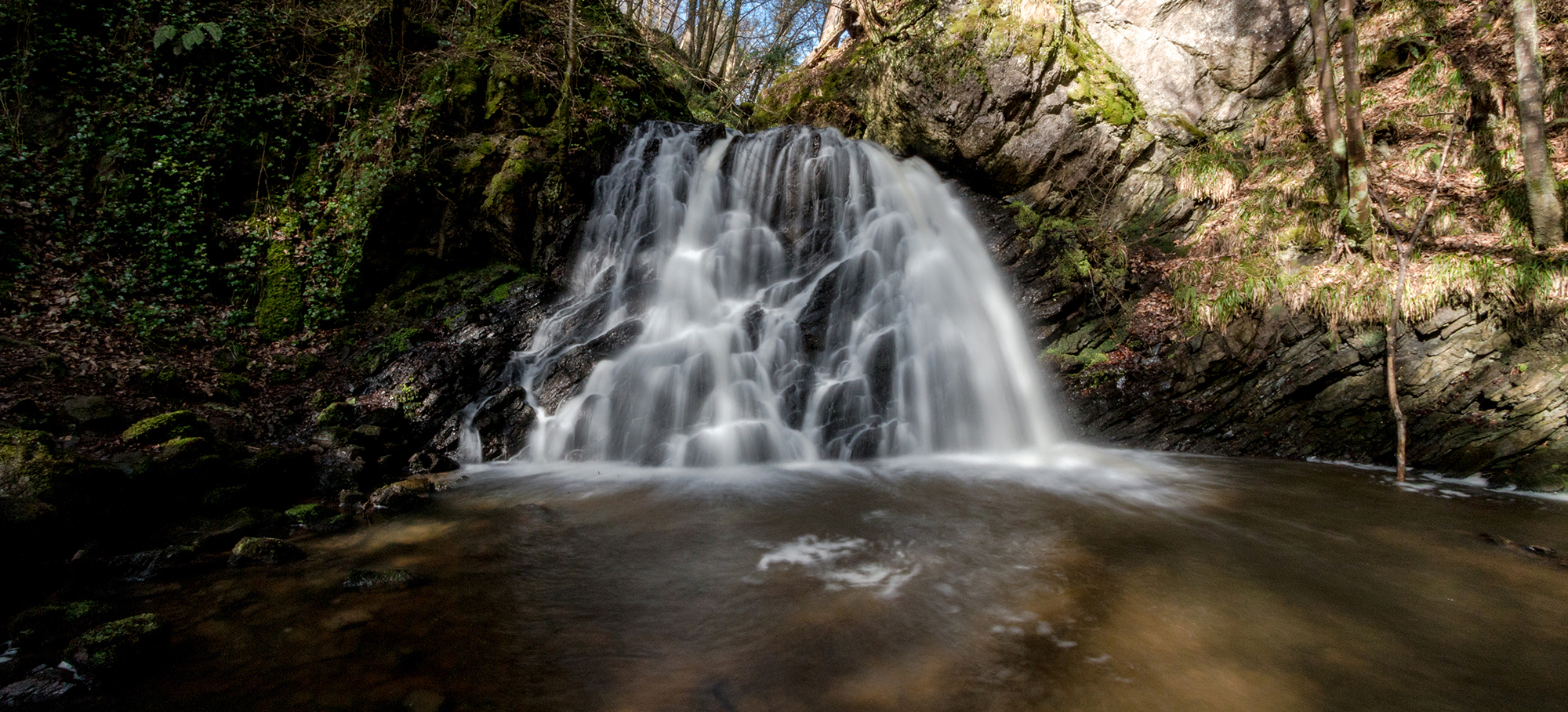 The waterfall at the Fairy Glen at Rosemarkie