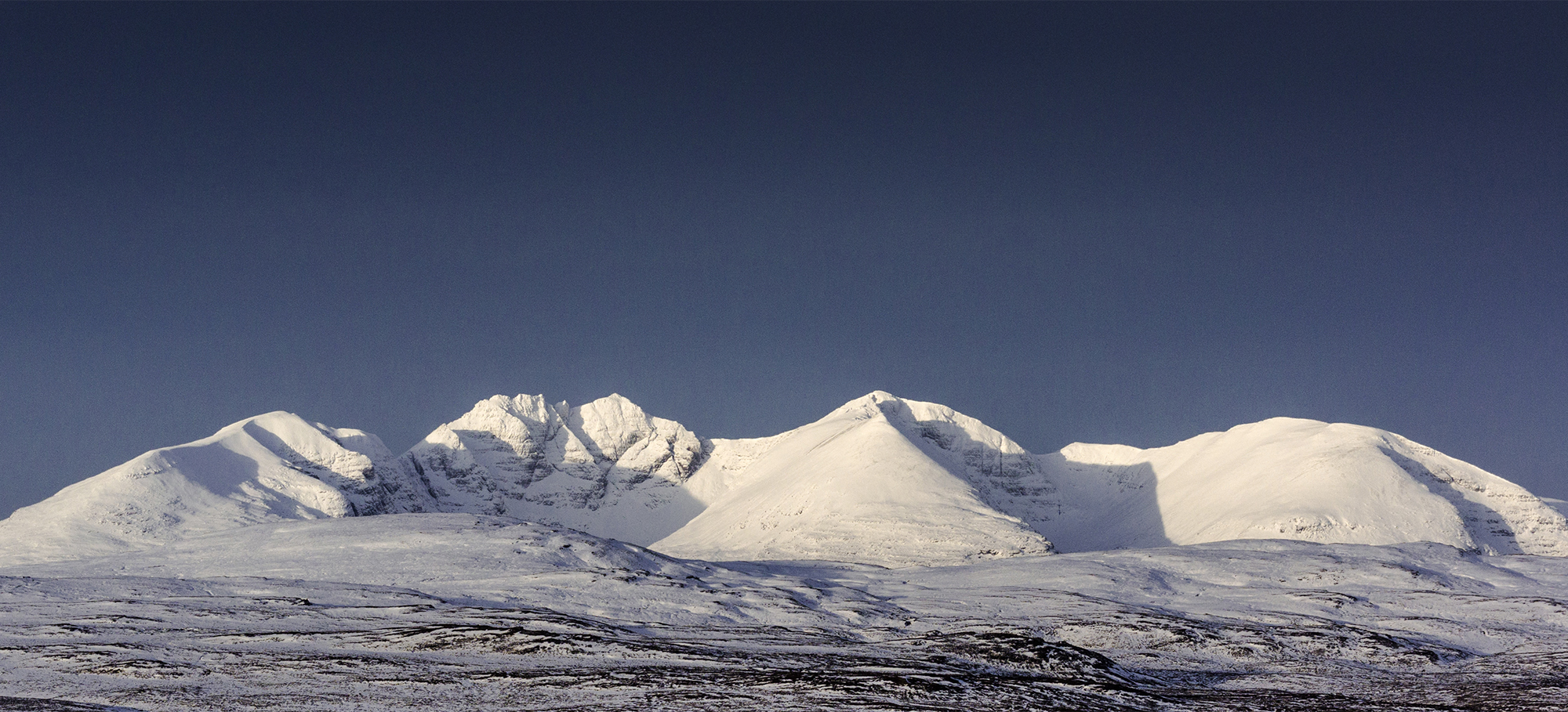 A snow covered An Teallach in winter